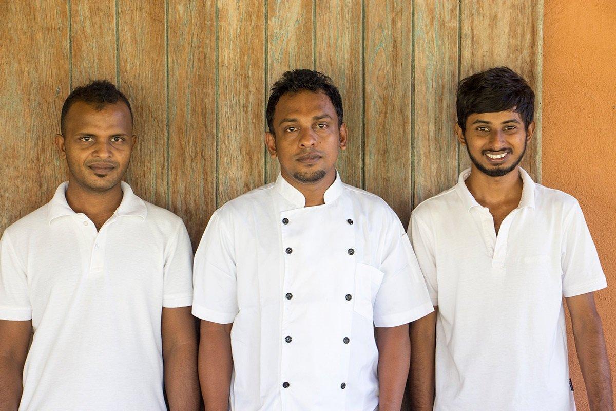 Chef and Staff Team Dikwella Villa Sri lanka Blue Heights