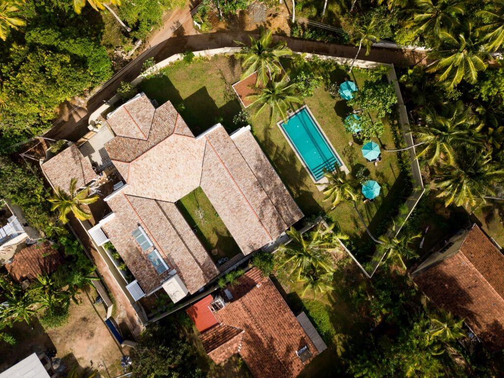 Drone view Merchant House Ahangama