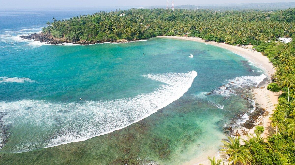 Surf Break Bay Hiriketiya beach