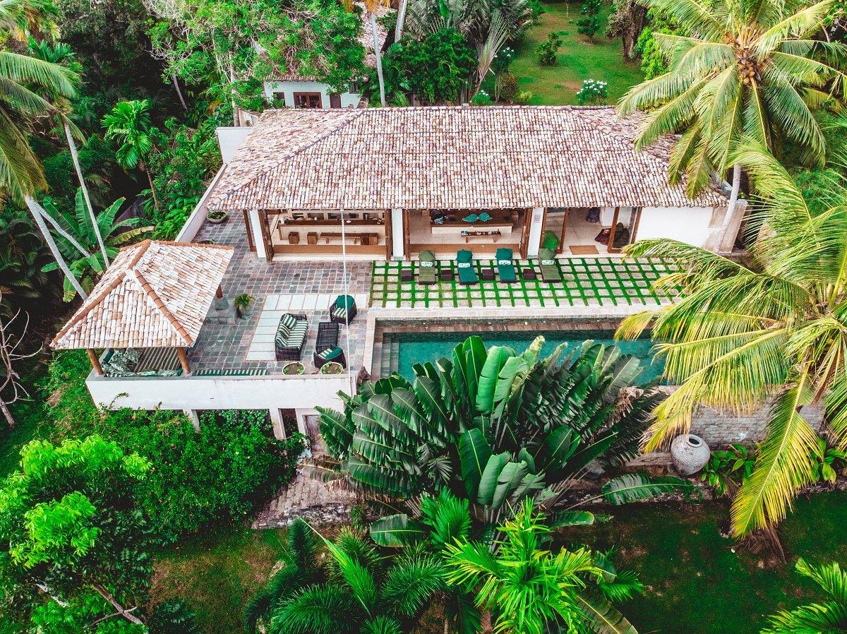 Drone views Luxury villa Weligama
