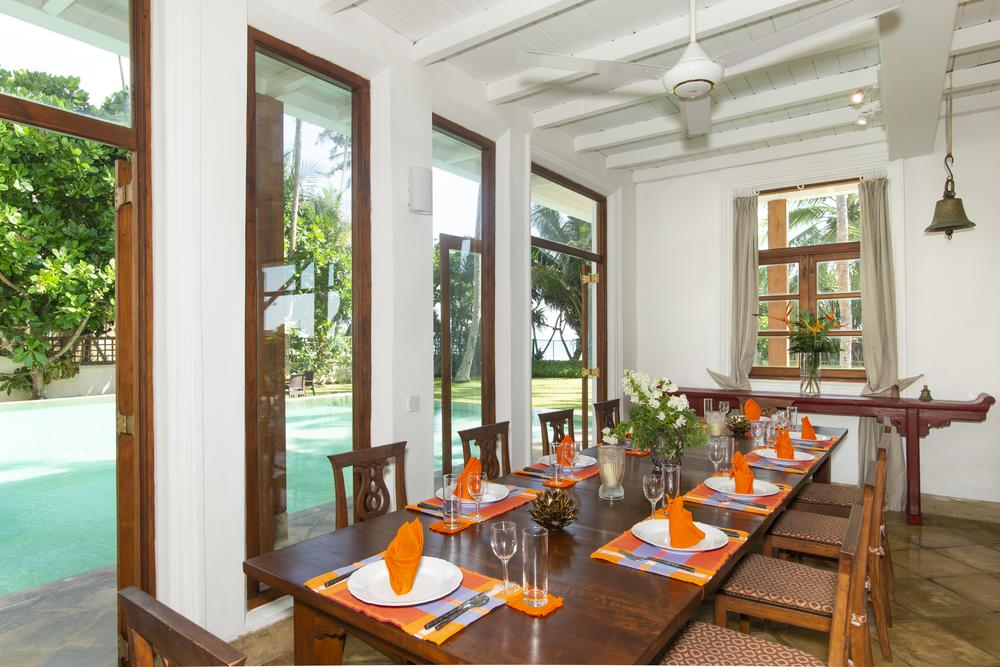 dining interior by pool