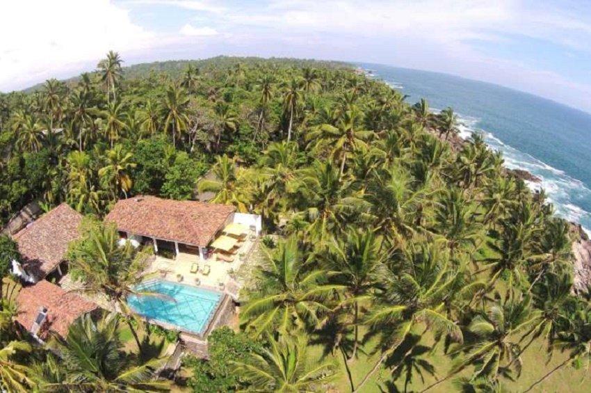 Drone View saffron house pool