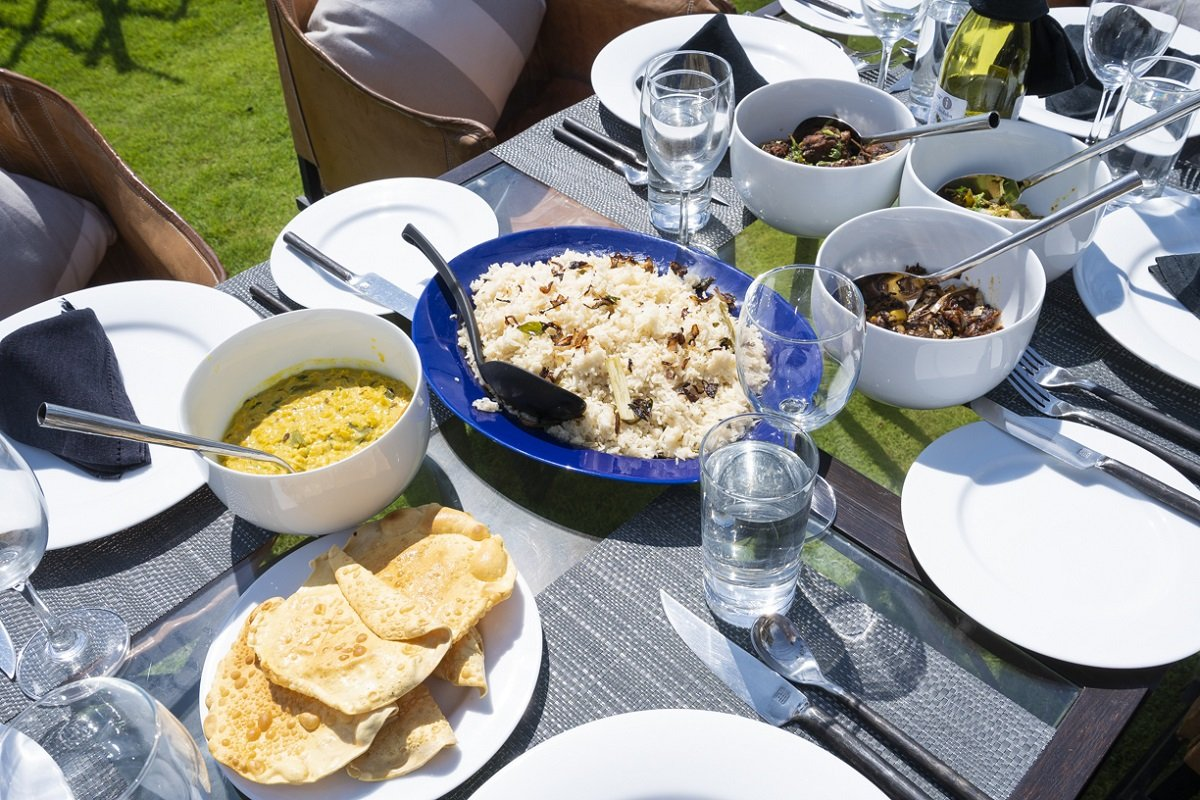 Food at the Villa