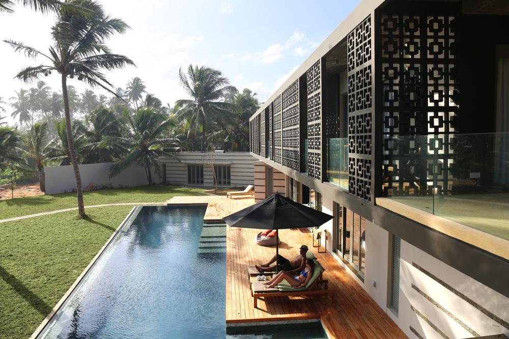 contemporary villa with pool