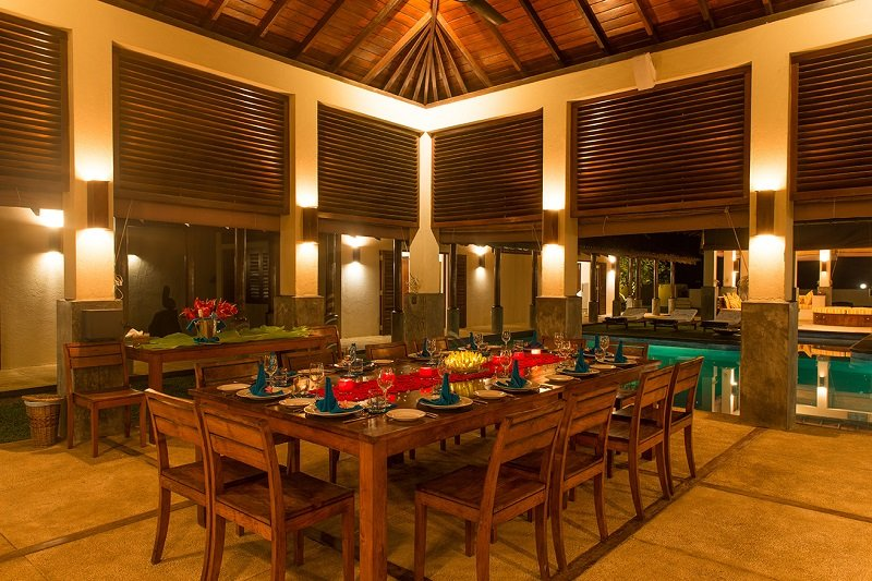 Dinner Auraliya villa