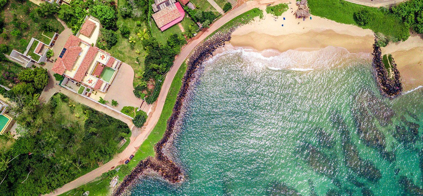 Drone view front Beach