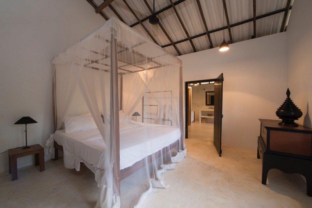 Double ensuite bedroom Mawela beach hidaways Sri Lanka